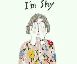 girl, shy, and drawing image