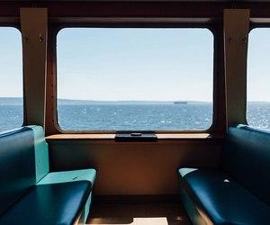 sea and train image