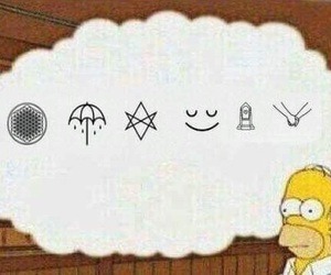 bmth, simpsons, and homer image