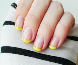 nails, yellow, and nail polish image