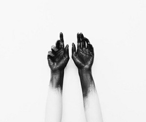 hands, black, and black and white image