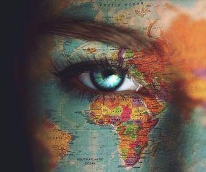 world, eye, and eyes image