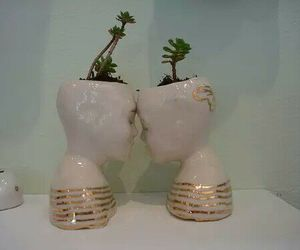 couple, flowerpot, and man image