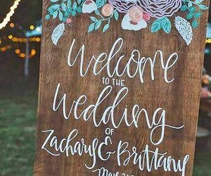 art, sign, and wedding image