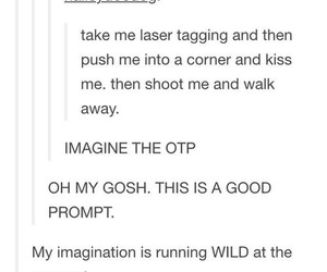 funny, laser tag, and otp image