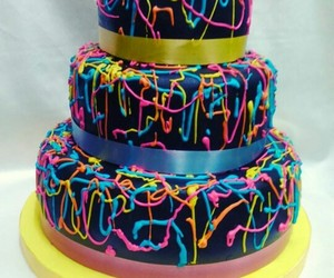 cake, colores, and fun image