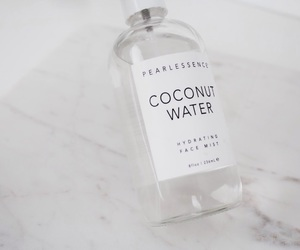 skincare, coconut water, and face spray image