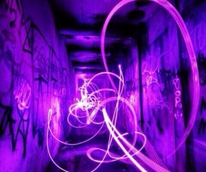 light, purple, and grunge image