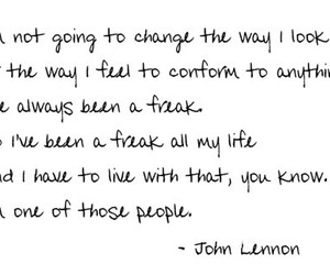 john lennon, quote, and text image