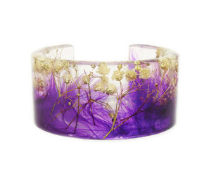 etsy, real flower jewelry, and resin jewelry image