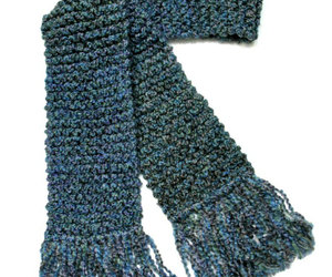 etsy, hand knit scarf, and chunky knit scarf image
