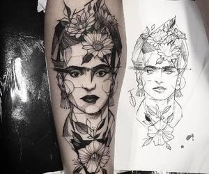 tattoo, frida kahlo, and art image