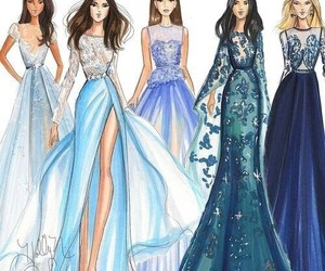 drawing, dress, and pretty image