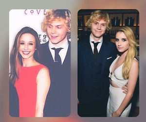coven, emma roberts, and evan peters image