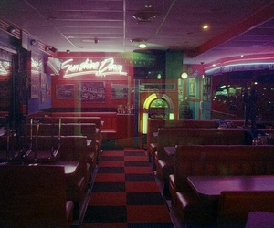 diner, neon, and pale image