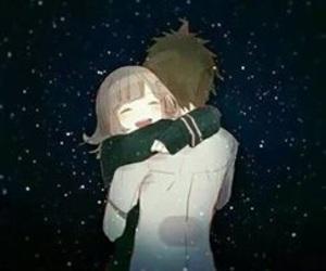 couple, anime, and hug image