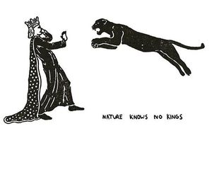 king, nature, and black and white image