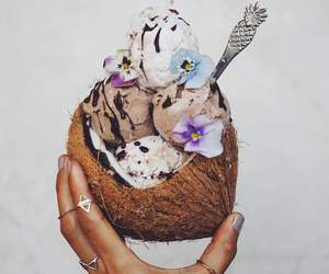food, coconut, and ice cream image