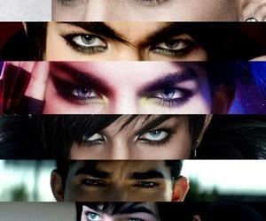 adam lambert and eyes image