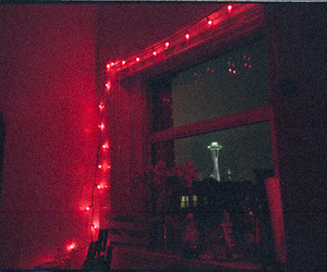 lights, pink, and red image