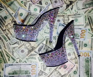 heels, money, and strippers image
