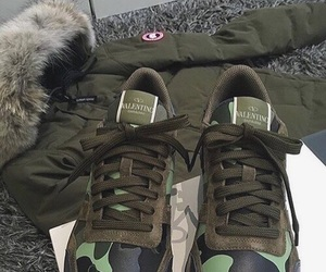 shoes, Valentino, and green image