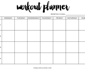 planner and workout image