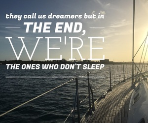 boat, Dream, and dreamers image