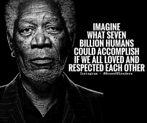 humans, morgan freeman, and love image