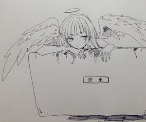 angel, anime, and anime girl image