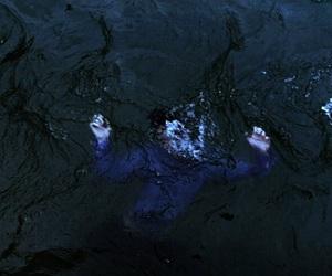 boy, choking, and drown image
