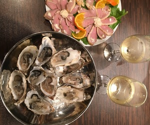 chardonnay, fancy, and oysters image
