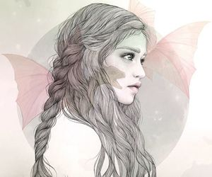 girl, beautiful, and drawing image