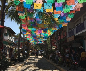 mexico, palm trees, and shops image