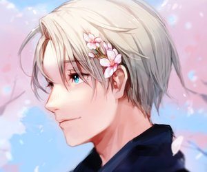 anime, yuri on ice, and viktor nikiforov image
