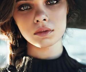 eyes, girl, and art image