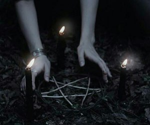aesthetic, candles, and pagan image