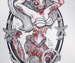 zombie, ariel, and disney image