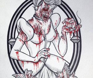 disney, cinderella, and zombie image