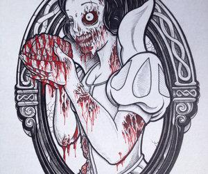zombie, snow white, and disney image