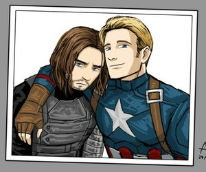bucky, stucky, and winter+soldier image
