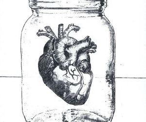 heart, art, and jar image