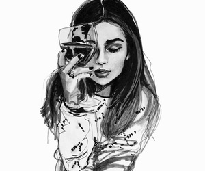 drawing, wine, and art image