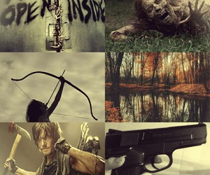 apocalypse, forest, and gun image