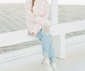 girl, pink, and pastel image