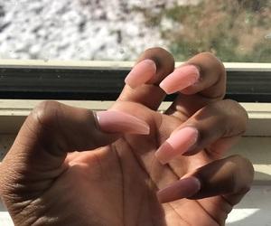 nails, pink, and nails tumblr image