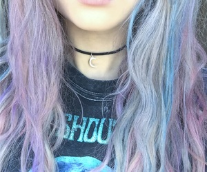 aesthetic, blue, and choker image