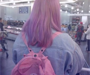 pink, hair, and girl image