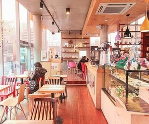 cafe, korea, and seoul image