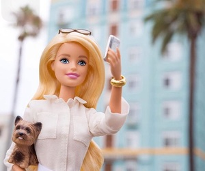 barbie, outside, and dog image